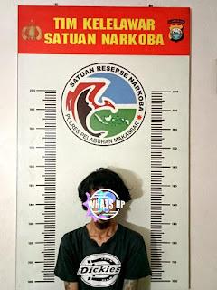 Satnarkoba Polres Pelabuhan Makassar Bekuk Pelaku Narkoba di Paccinang raya