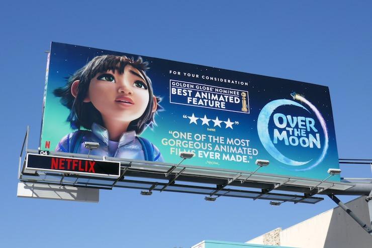 Over the Moon Golden Globe billboard