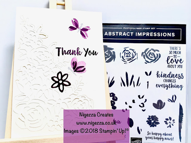 Nigezza Creates with Stampin Up Abstract Impressions