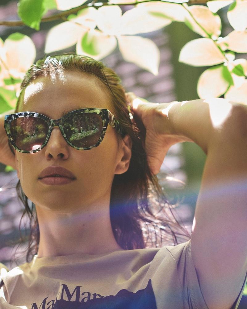 Irina Shayk stars in Max Mara sunglasses summer 2020 campaign.