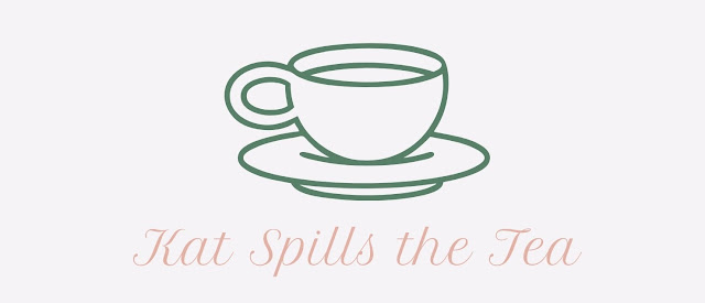 The image shows the logo for Kat Spills The Tea Blog