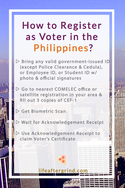 How to Register as Voter in the Philippines