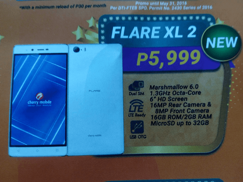 Cherry Mobile Flare XL 2 leak
