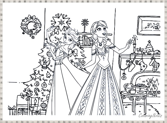 14 Cute Frozen Christmas Coloring Pages For Children Free Printable - COLORING  PAGES FOR KIDS FREE PRINTABLE