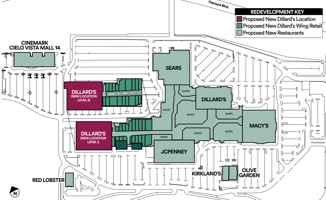 Cielo Vista Mall Map Cielo Vista Mall Map | Color 2018