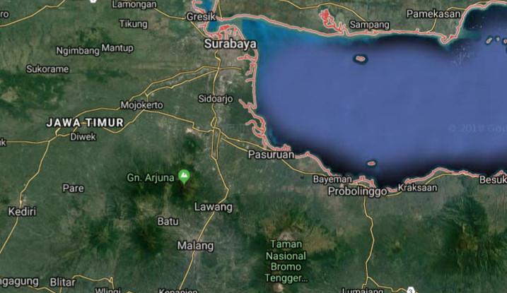 5 Peta Jawa Timur Terbaru Lengkap Termasuk Pulau Madura Bawean