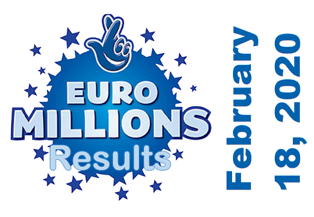 EuroMillions Results for Tuesday, February 18, 2020