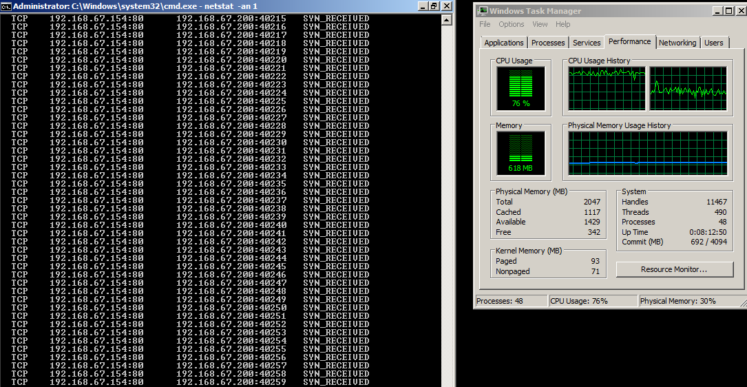 Life over Pentest: TCP Flood & IP Spoofing - Hping3 (With