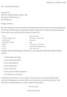 Contoh surat lamaran kerja di Alfamart sebagai Kasir