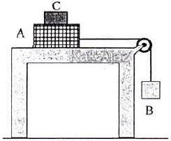 Benda A, B, dan C masing-masing memiliki massa 3 kg, 3 kg, dan 1 kg, soal Fisika UN 2017