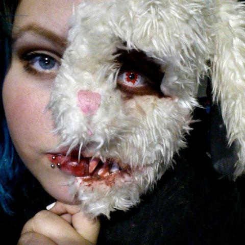 Evil Teddy Bear Face Paint