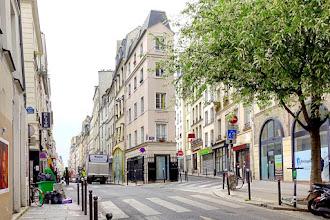 Paris : Pointe dite Trigano, immeuble habitable le plus étroit de Paris, longtemps considéré à tort comme la dernière demeure d'André Chénier - IIème