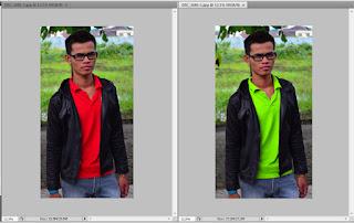 Cara mengubah warna baju