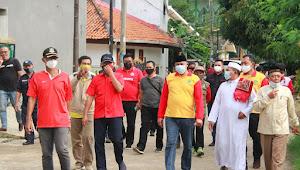 Wakil Walikota Bekasi Tinjau Tanggul Kali Cakung yang Jebol