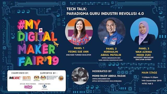 Tech Talk My Digital Maker 2019: Paradigma Guru Mendepani !R 4.0