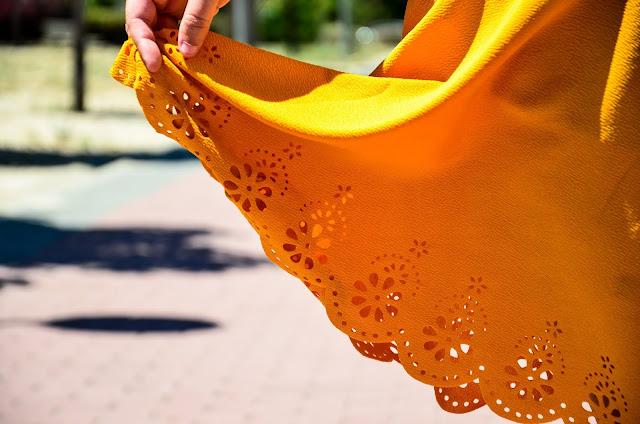 Falda amarilla de Shein