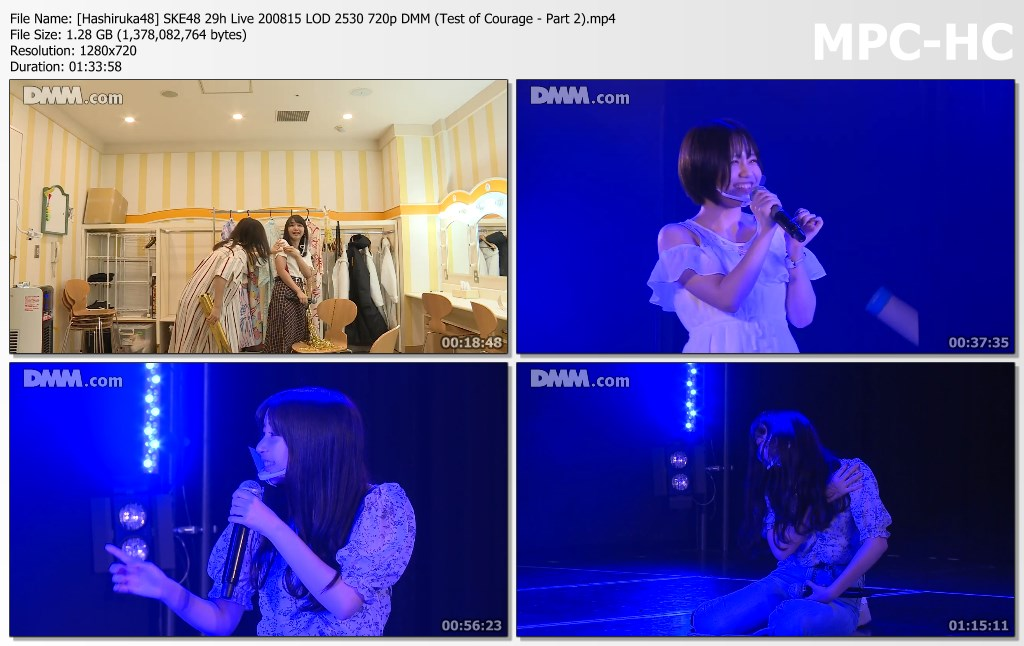 SKE48 29h Live 200815 LOD 2530 DMM (Test of Courage – Part 2)