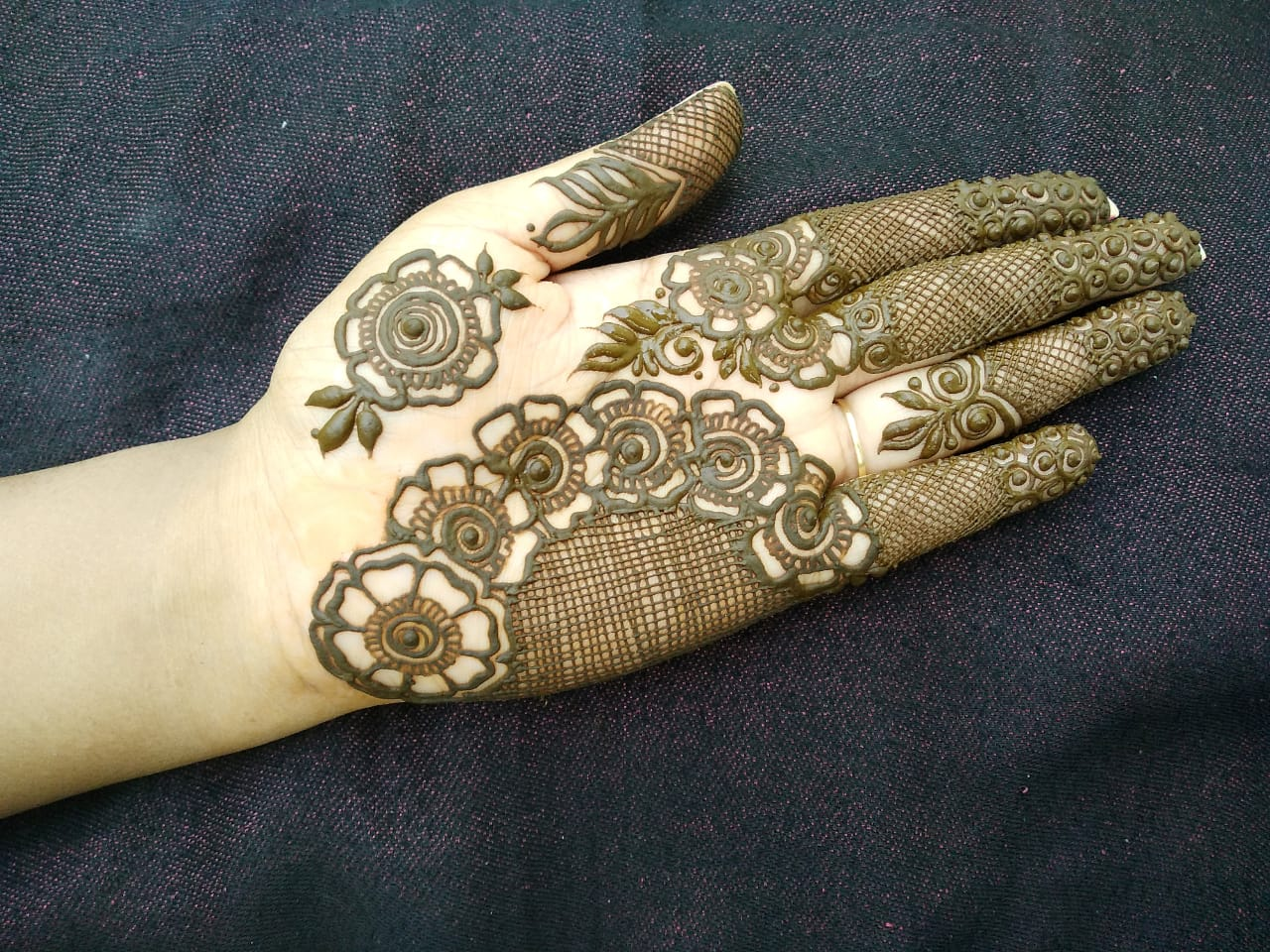 Simple Semi-Bridal Mehndi Design