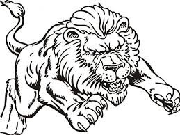 Best Realistic King Jungle Lion Coloring Pages Print
