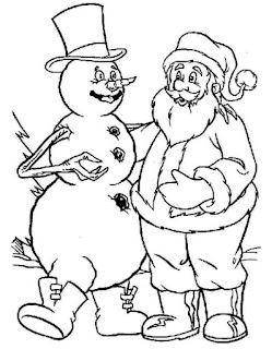 סבא חורף ואיש שלג דף צביעה
