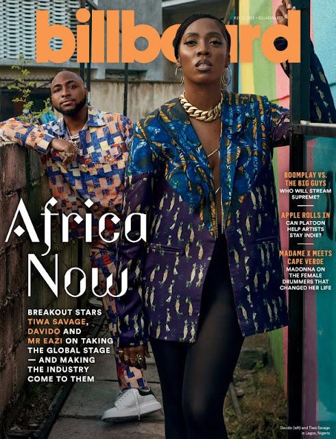 Nigerian Singers Davido, Tiwa Savage & Mr. Eazi Cover Latest Billboard Edition