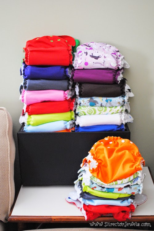 AppleCheeks cloth diapers | Simple Cloth Diaper Storage Solution