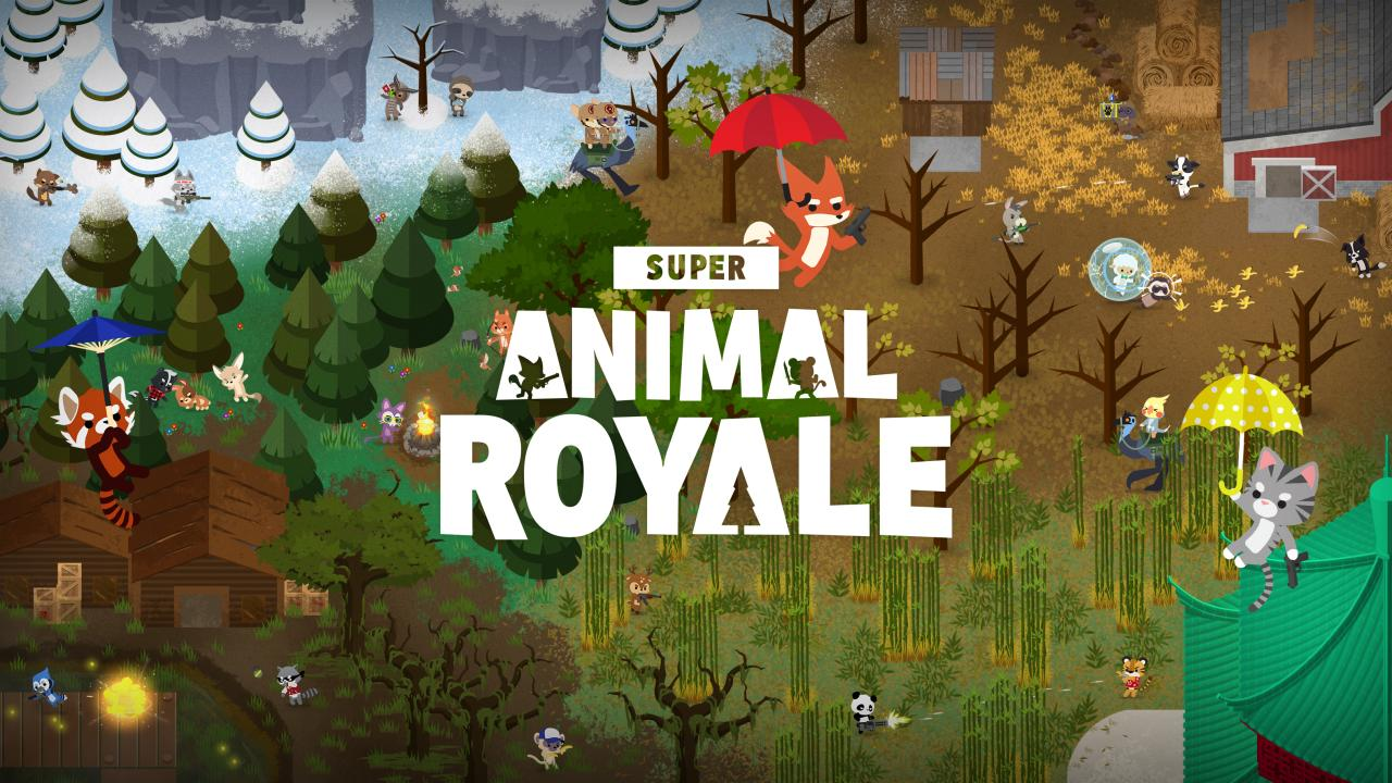 Free-to-Play Battle Royale Super Animal Royale is Out Now
