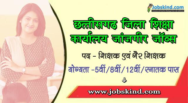 Cg DEO Janjgir-Champa Recruitment 2020 Chhattisgarh Janjgir Govt Job Advertisement Govt. English Medium School Janjgir Recruitment All Sarkari Naukri Information Hindi.