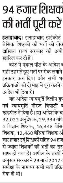 UP B.P.Ed Physical Teacher Vacancy 2018 News 32022 Anudeshak