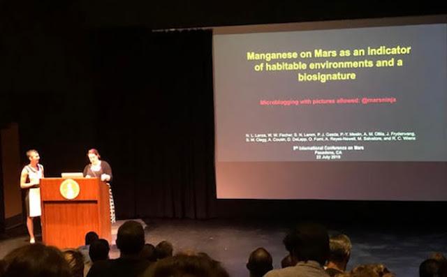 Manganese as an indicator of habitable exoplanet biosignature (Source: Nina Lanza, LANL)
