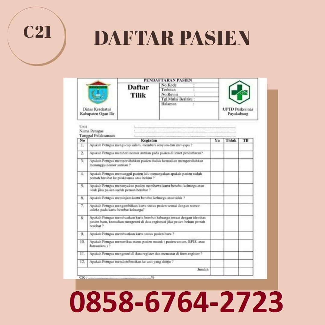 085867642723 Cetak Daftar Pasien di Magelang-Yogyakarta