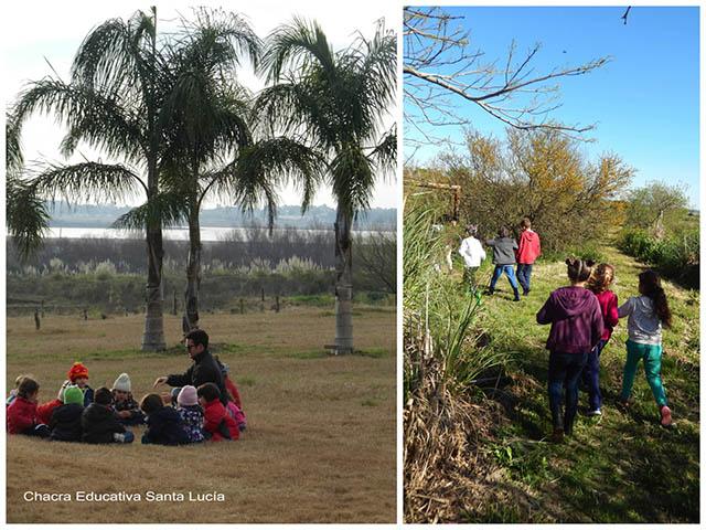 Grupos de niños - Chacra Educativa Sta. Lucía