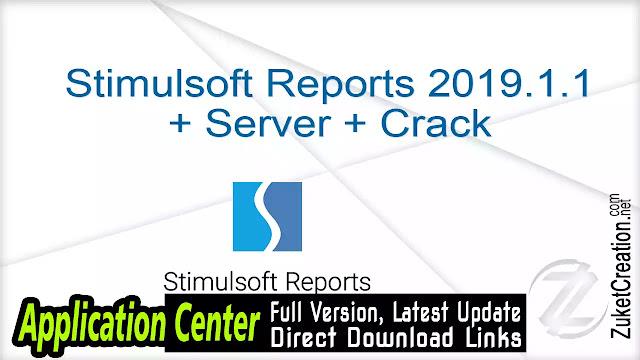 Stimulsoft Reports 2019.1.1 + Server + Crack