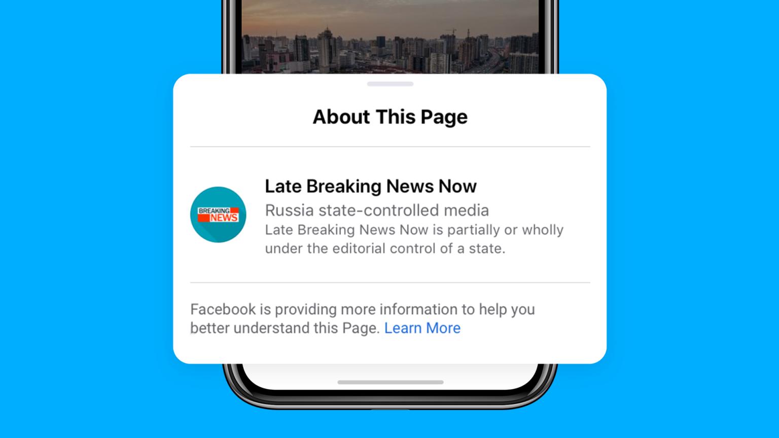 Adesso Facebook etichetta la stampa controllata dai governi