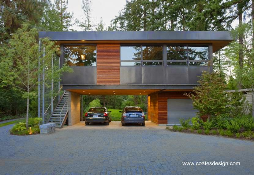 Casa residencial contemporánea en el estado de Washington, Estados Unidos