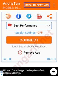 klik stealth settings