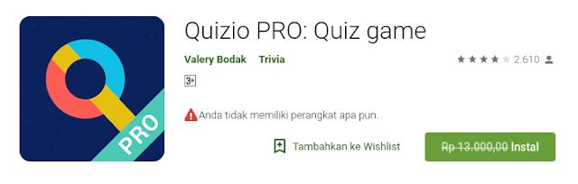 Quizio PRO: Quiz game (Free sampai 21 Agustus)