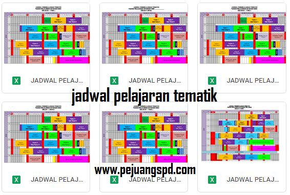 Jadwal pelajaran Tematik 2019/2020 Kurikulum 2013