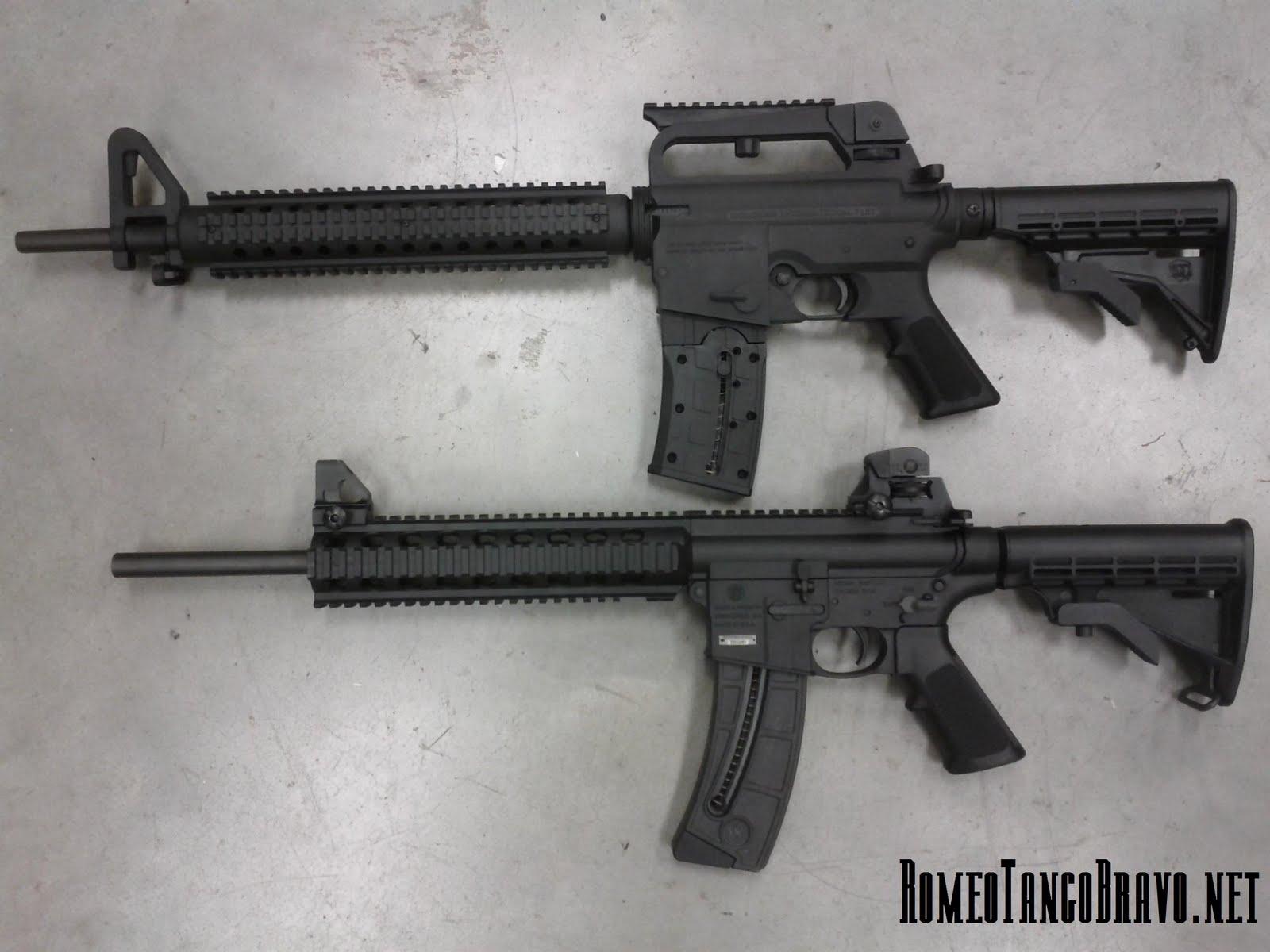 RomeoTangoBravo: S&W M&P 15-22 vs  Mossberg AR-22 :: First