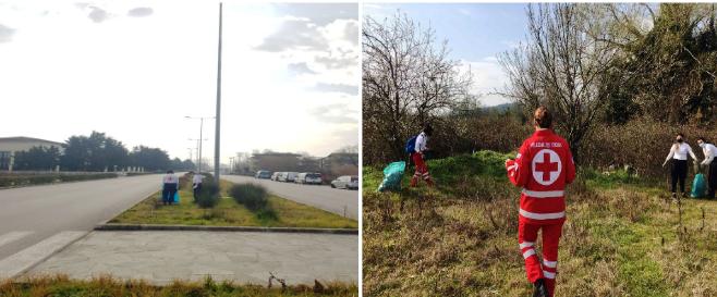 Ιωάννινα:Εθελοντές του Ερυθρού Σταυρού  έκαναν   τον ποδηλατόδρομο της Λεωφόρου Γεννηματά….να λάμπει !