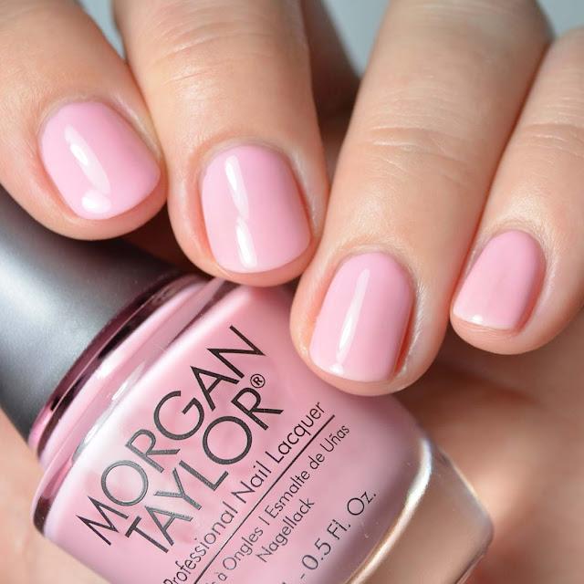 pink nail polish swatch