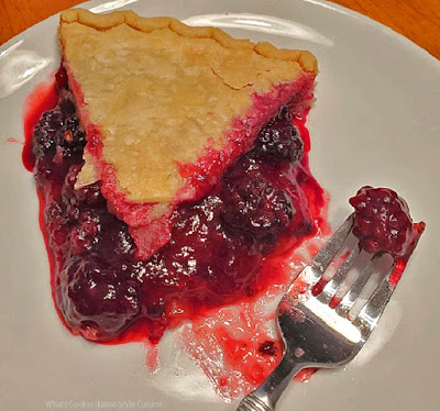 Fresh Red Raspberry Pie