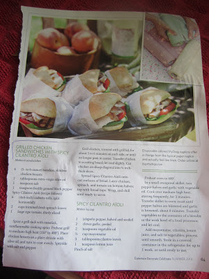 Celebrate magazine-picnic sandwich
