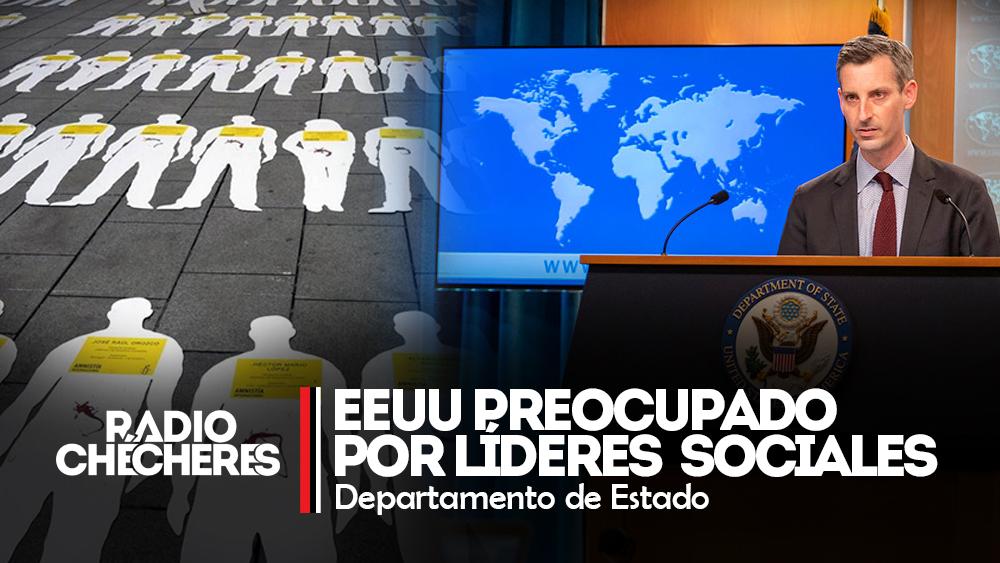 EEUU muestra preocupación por violencia contra líderes en Colombia: Departamento de Estado