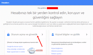 gmail Oturum açma ve güvenlik