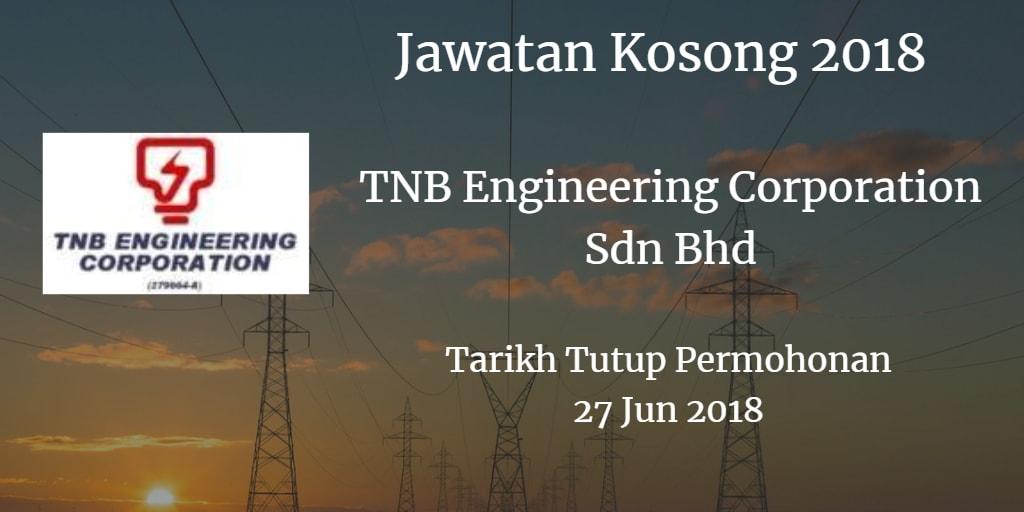 Jawatan Kosong TNB Engineering Corporation Sdn Bhd 27 Jun 2018