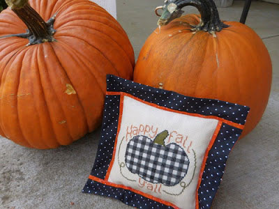black and white check pumpkin pillow