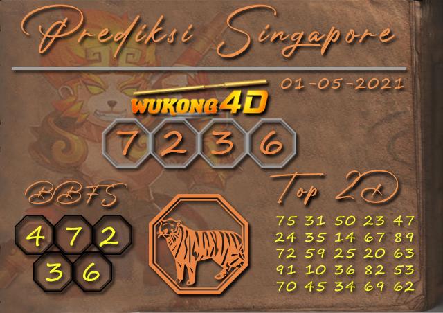 PREDIKSI TOGEL SINGAPORE WUKONG4D 01 MEI 2021