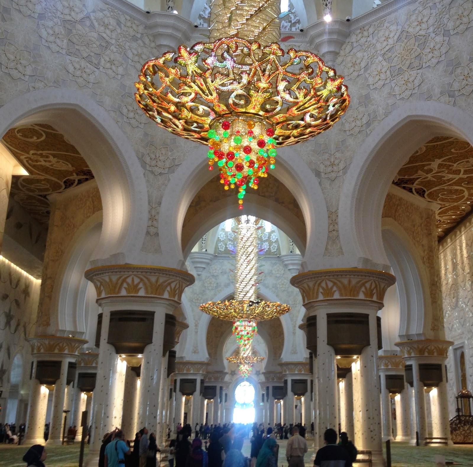 La frome chez les duba otes grande mosqu e sheikh zayed abu dhabi for Grande horloge murale solde