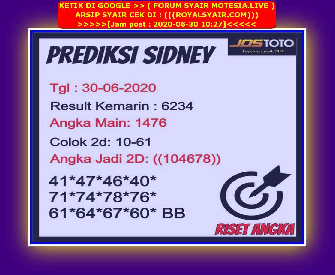 Kode syair Sydney Selasa 30 Juni 2020 256